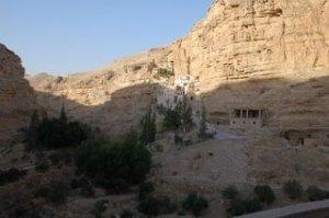 Hodzeva Monastery in the Wadi Kelt
