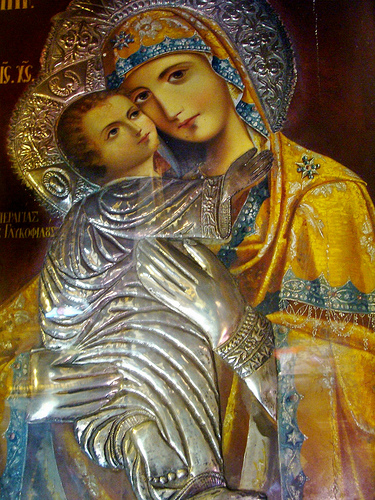 Icon of Holy Mother of God - Cathedral of St Gregory of Palamas, Tessaloniki dans immagini sacre holy-mother-of-god-from-the-cathedral-of-st-gregory-of-palamas